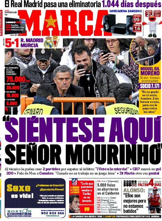 On the Cover of Marca