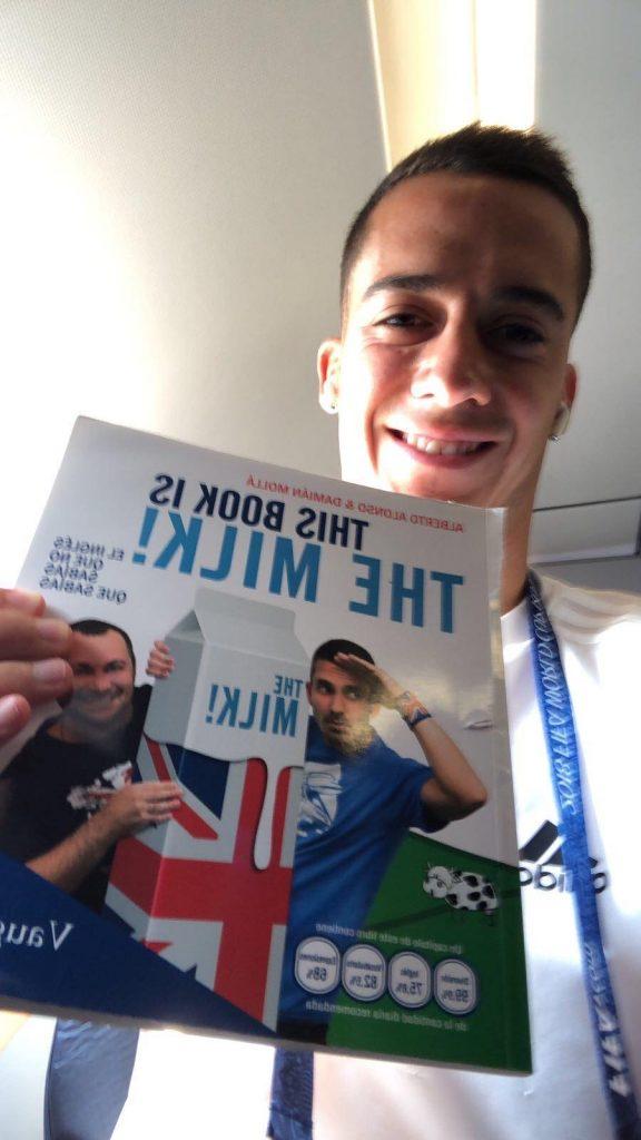 Lucas Vazquez loves English